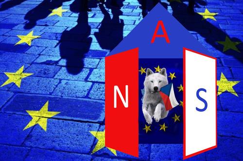 """Základní bod volebního programu """"Aliance národních sil"""": VYSTOUPIT Z EU (1)"""