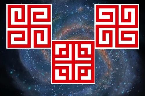 Praslovanské sluneční symboly duchovní a duševní svastika