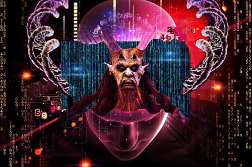 Výraz pro zlo – evil, je pozpátku (po archontsku) live – život